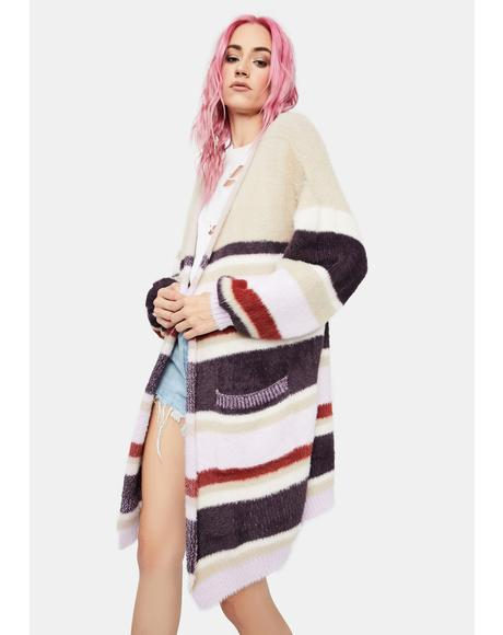 Shifting Winds Striped Knit Cardigan