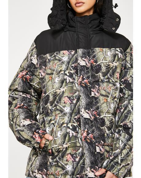 Nerm N' Jerm Tree Camo Puffer Jacket