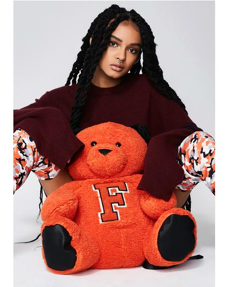 FENTY PUMA By Rihanna Sherpa Mascot Bear Backpack