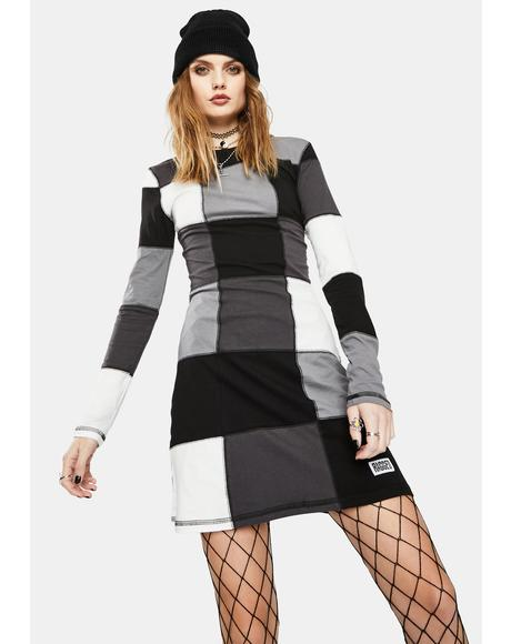 Capture Patchwork Long Sleeve Dress