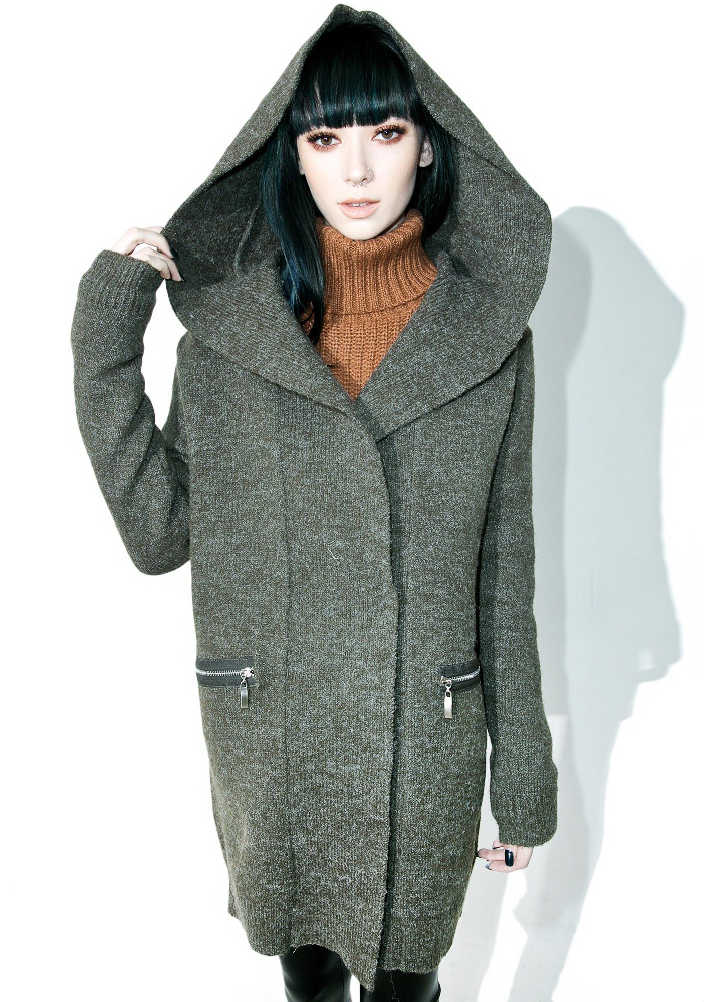 Huntress Hooded Knit Jacket