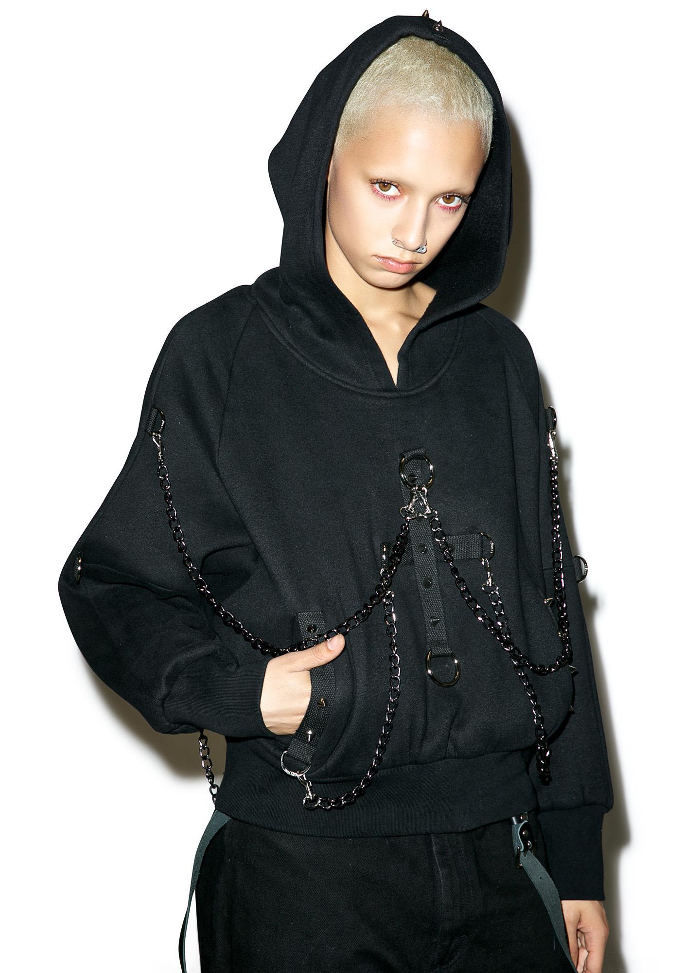 Punk Rave Dark Days Chained Hoodie