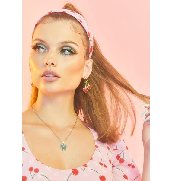 Take A Sample Cherry Earrings