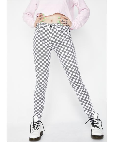 Checkered 5 Pocket Pants