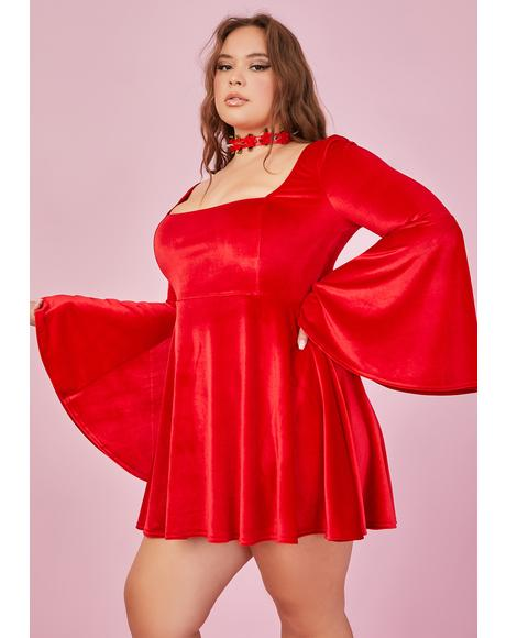 Ruby Quick Strike A Pose Bell Sleeve Dress