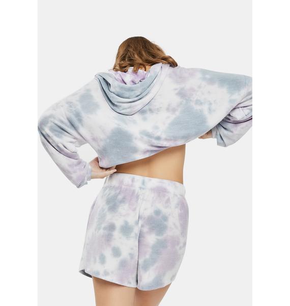 Bailey Rose Purple Tie Dye Lounge Shorts