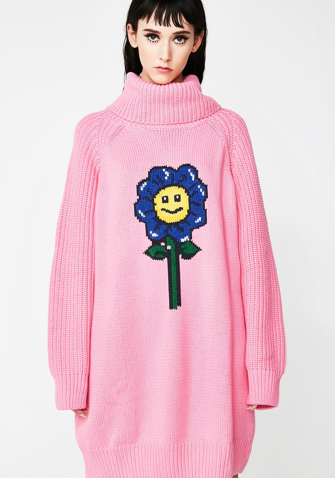 dce9d07366 Lazy Oaf Flower Power Sweater Dress