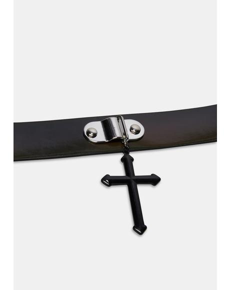 Bad Religion Cross Choker