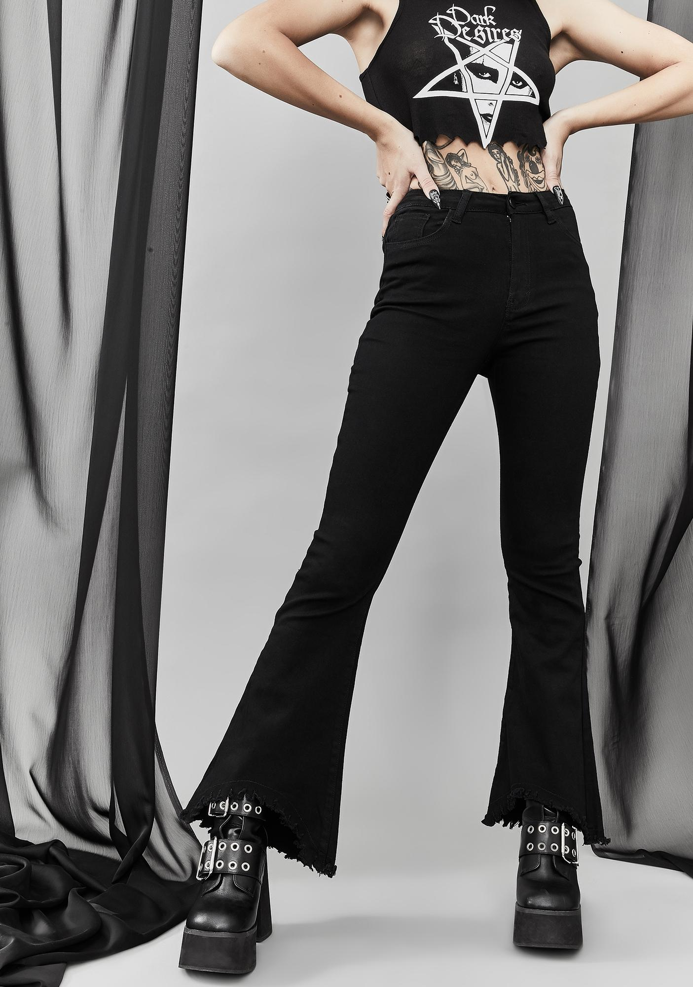 Widow Back From The Grave Flared Jeans