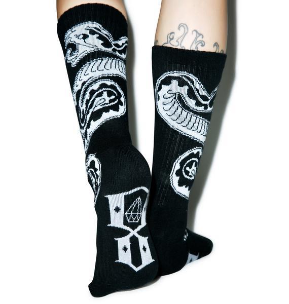 Rebel8 Run To The Hills Socks