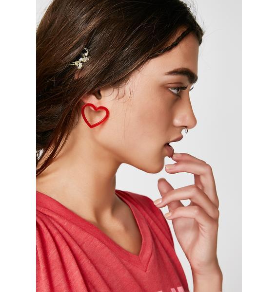 Feel The Luv Earrings