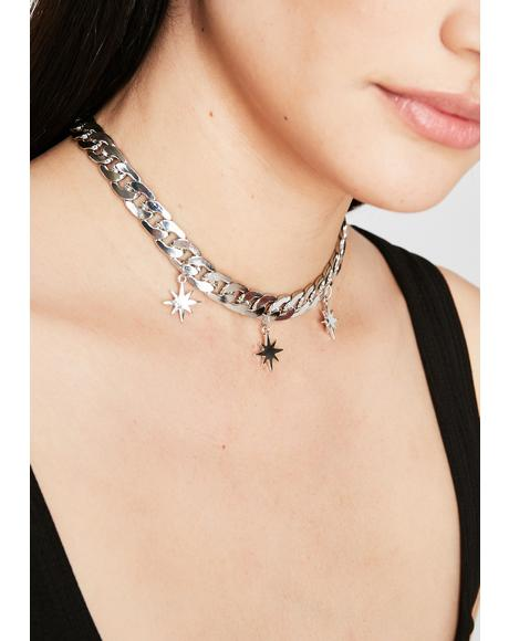 Burst Into Stars Chain Necklace
