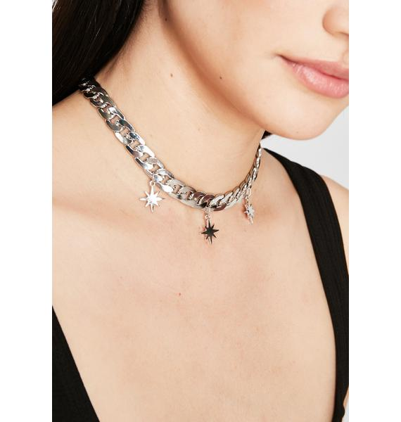 Burst Into Stars Chain Necklace