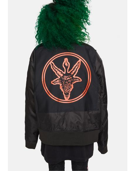 Baphomet MA1 Patch Jacket