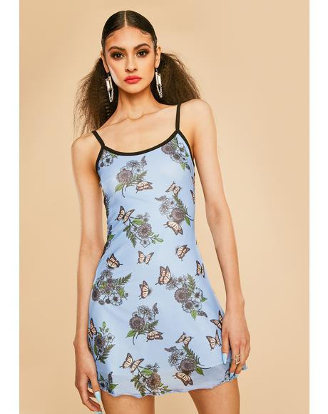 Scenic Vision Mesh Mini Dress