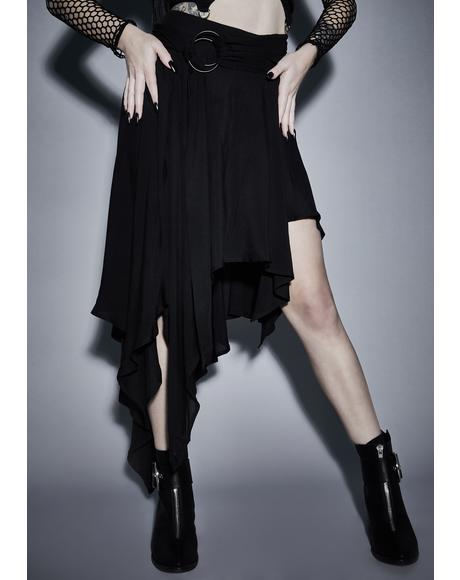 Twisted Mystic Asymmetrical Skirt