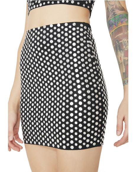 Easy Money Studded Mini Skirt