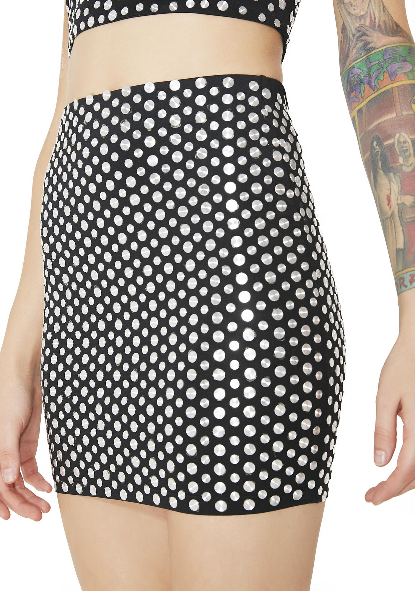 Kiki Riki Easy Money Studded Mini Skirt