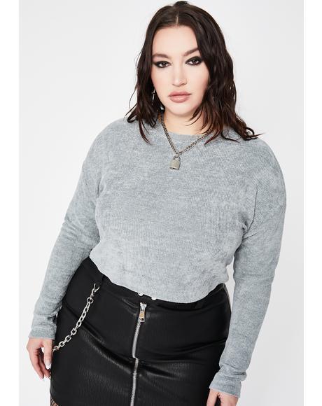 Sky C'mon Get A Freakin' Clue Knit Sweater