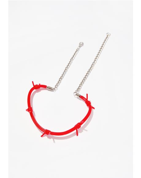 Don' Touch Barbed Wire Choker