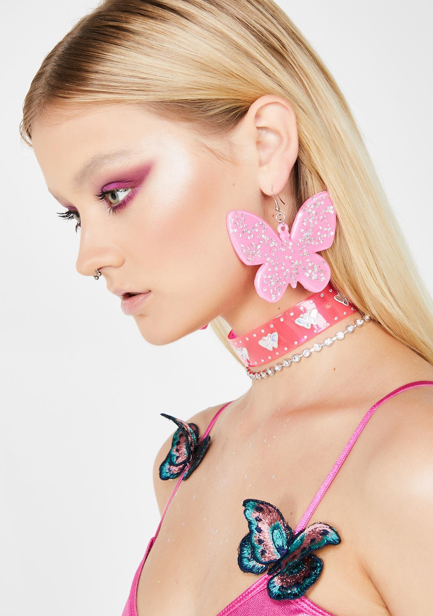 Love Spring Butterfly Earrings