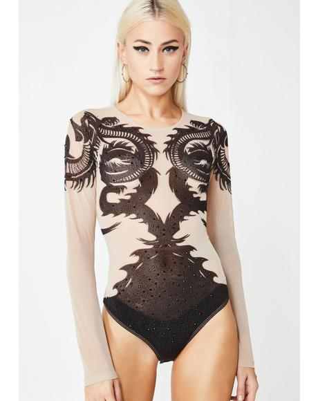 Demon Dreamer Sheer Bodysuit