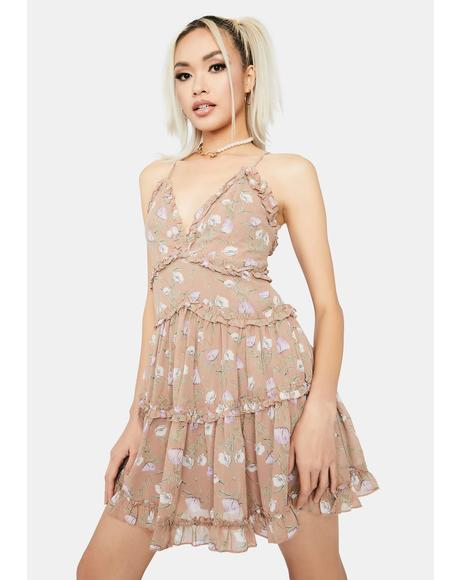 Taupe Pixie Chaser Babydoll Dress