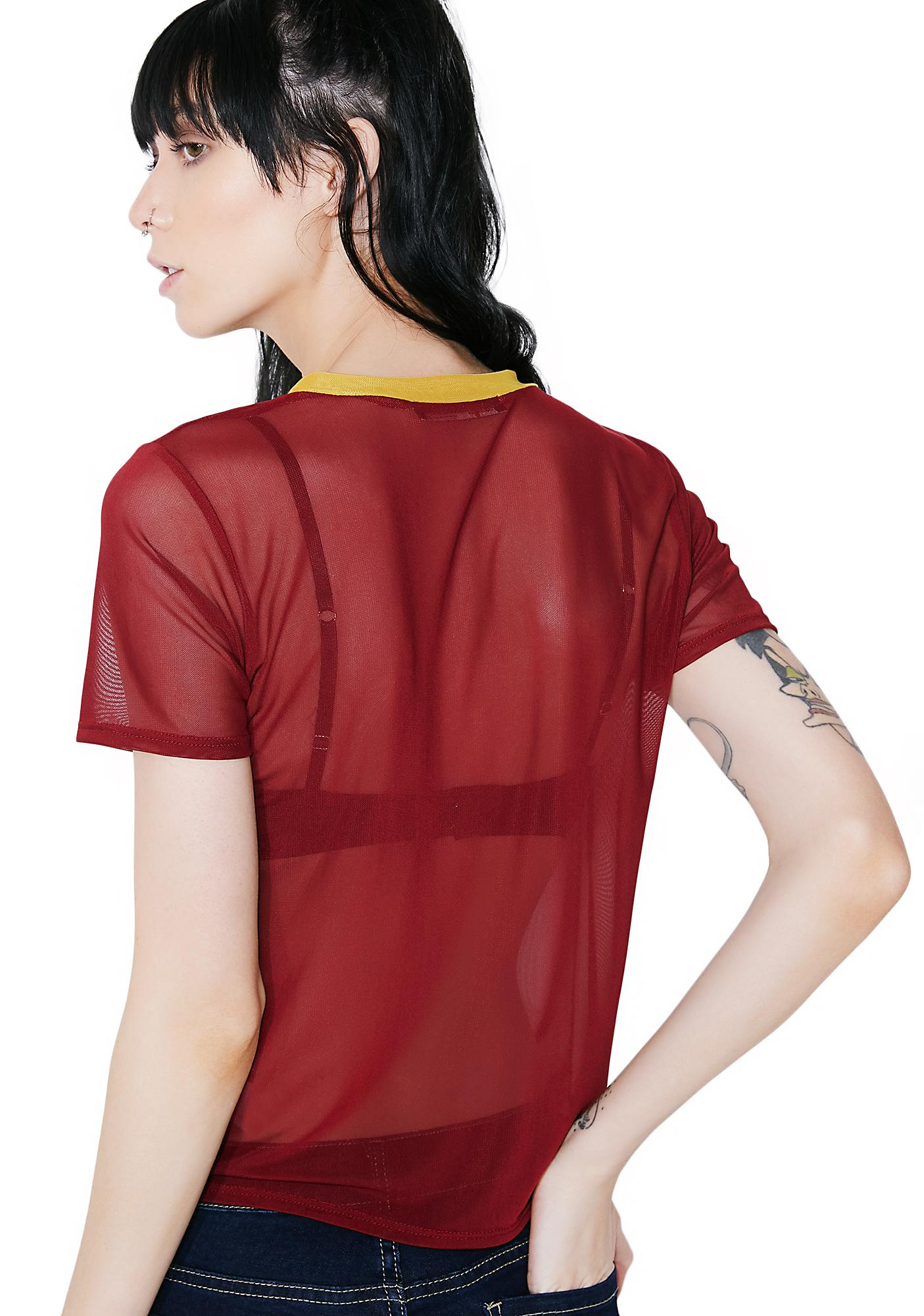 Take U On Sheer Ringer Tee