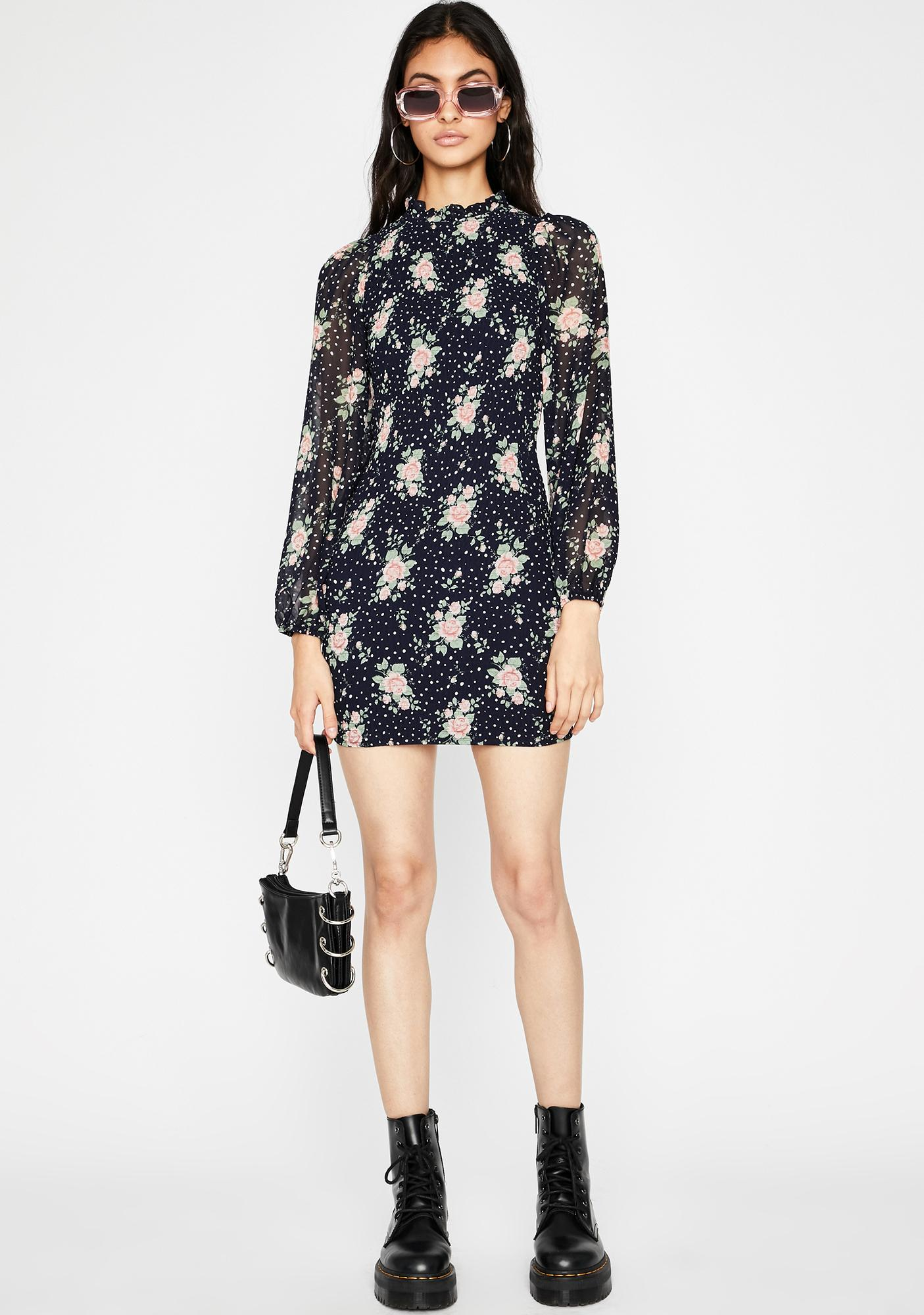 Floral Finesse Mini Dress