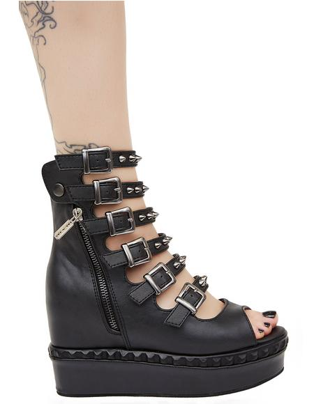Mysterian Buckle Wedges