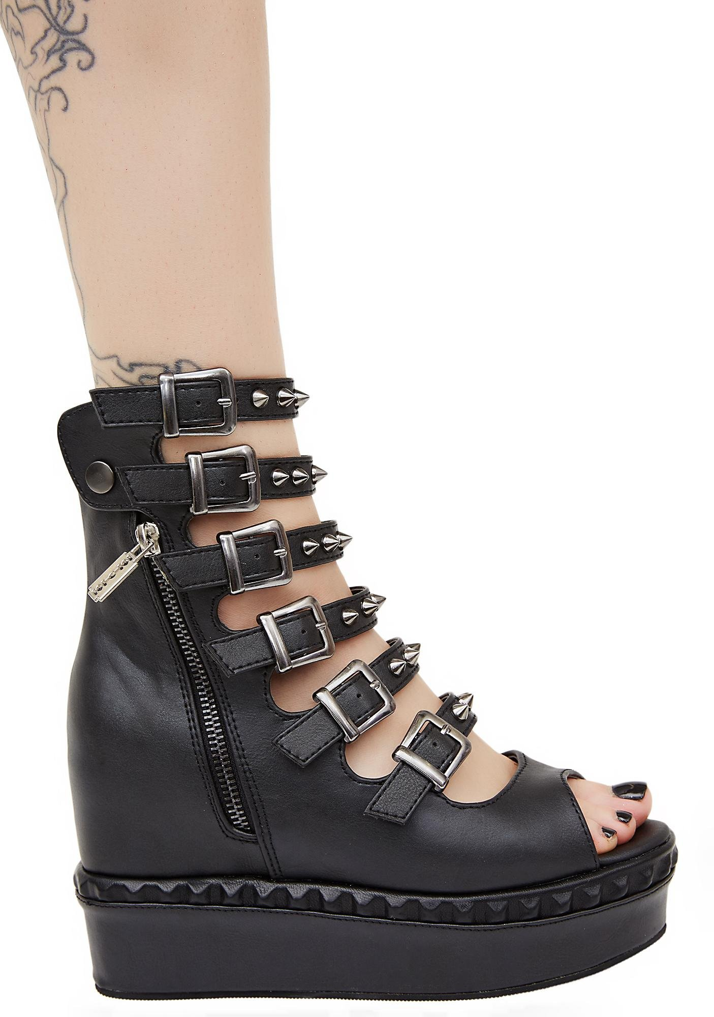 Demonia Mysterian Buckle Wedges