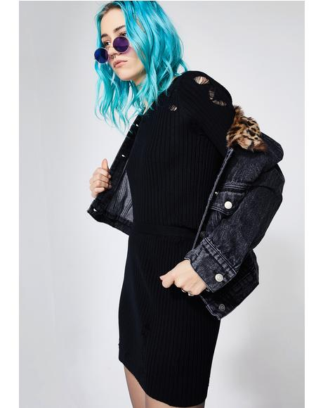Onyx Movin' On Distressed Sweater