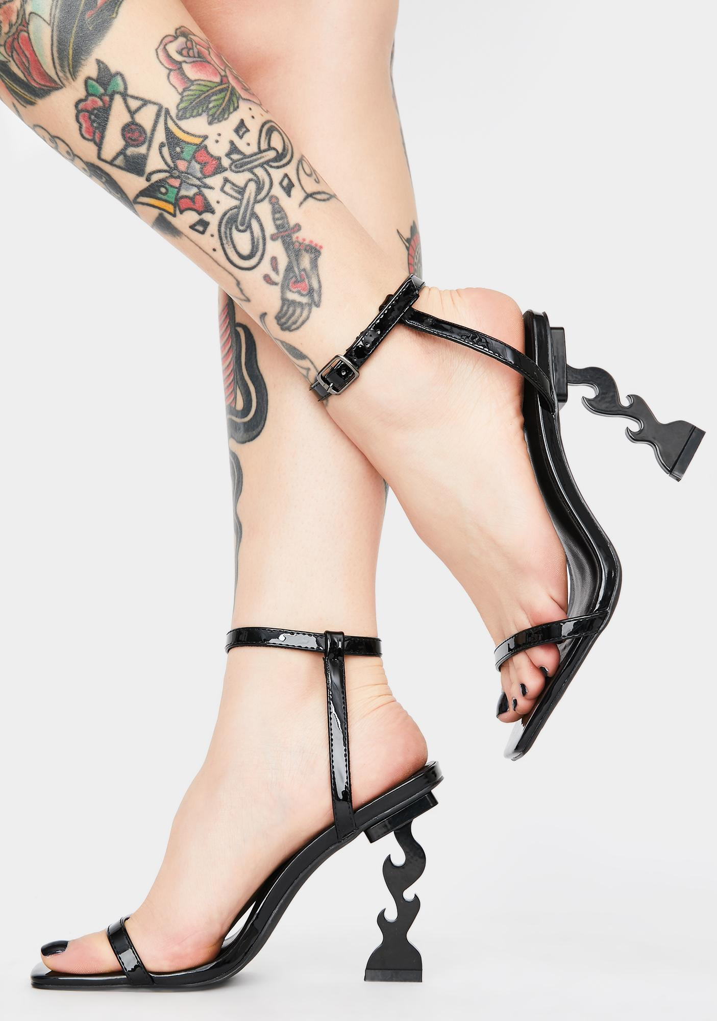 HOROSCOPEZ Sultry Mistress Flame Heels