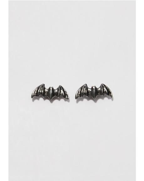 Night Flyer Stud Earrings