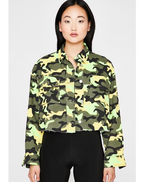 Ammo Camo Crop Jacket