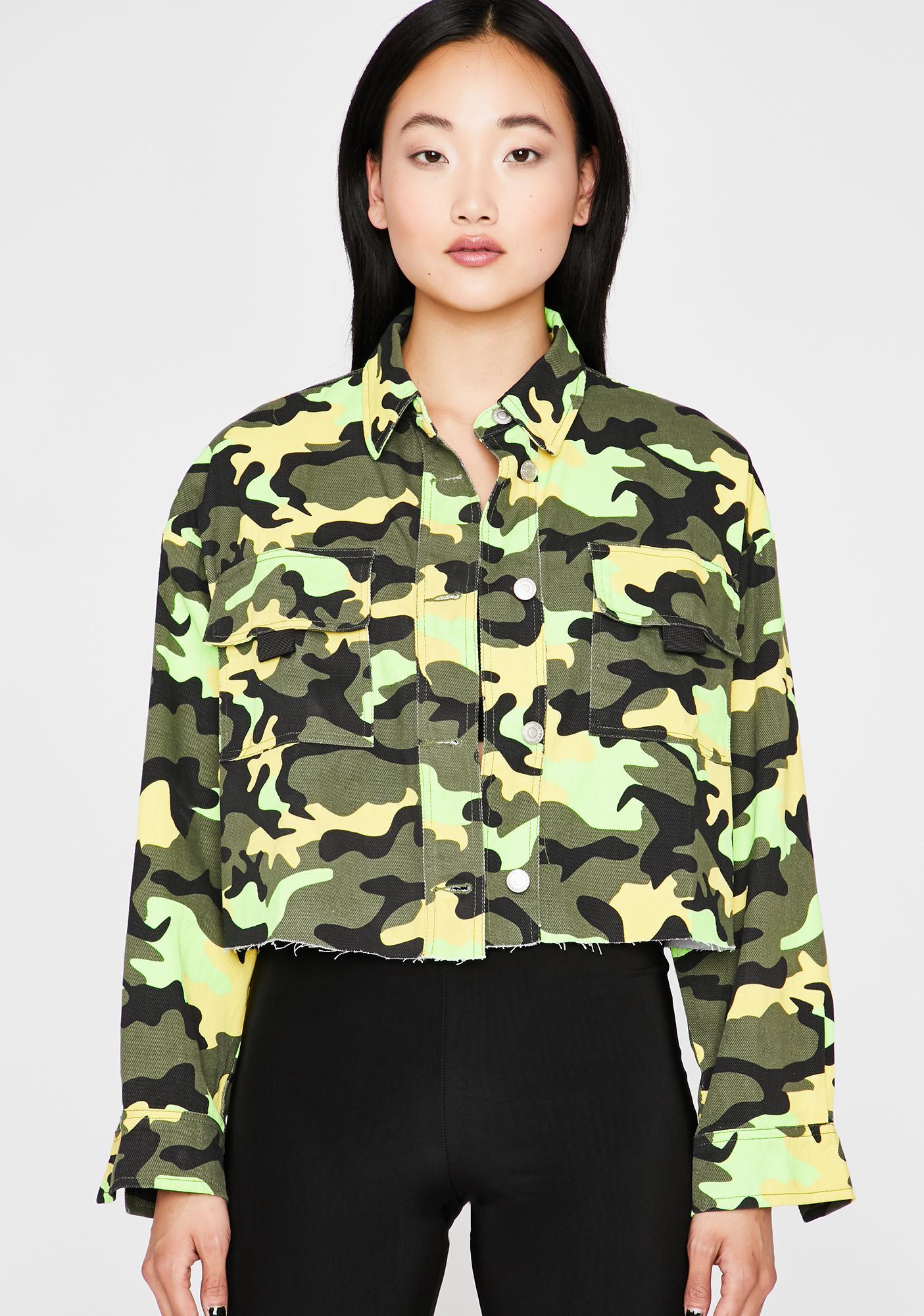 b8621af076975 Camo Print Crop Jacket | Dolls Kill
