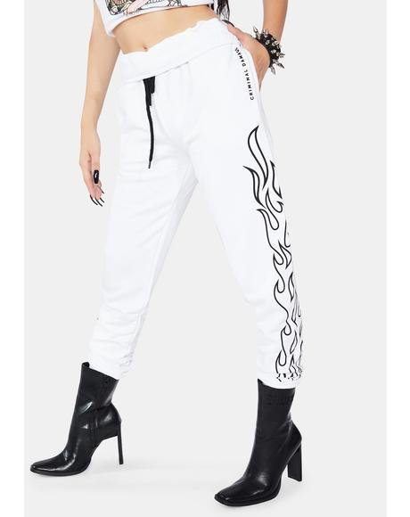 White Flame Joggers
