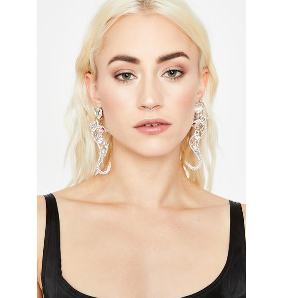 Crystal Wave Rhinestone Earrings