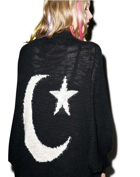 Moon Stars Cocoon Cardigan