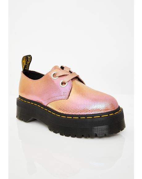 Holly Pink Iridescent Shoes