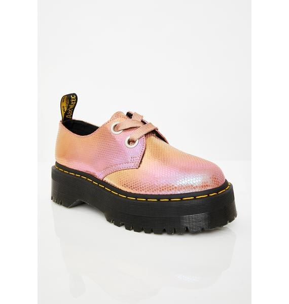Dr. Martens Holly Pink Iridescent Shoes