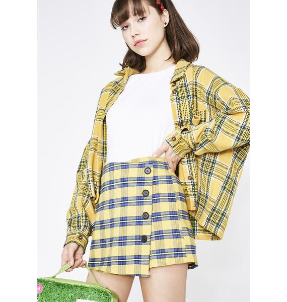Beverly Hills Plaid Mini Skirt