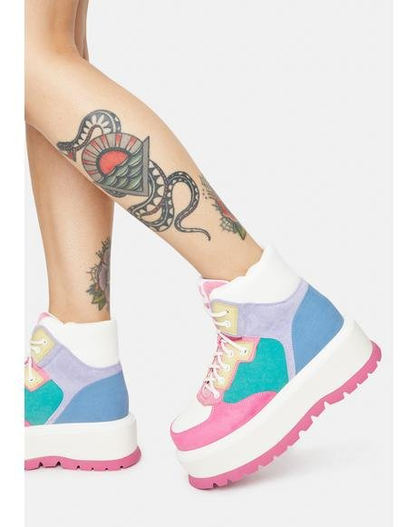 Pink Sumikko Platform Sneakers