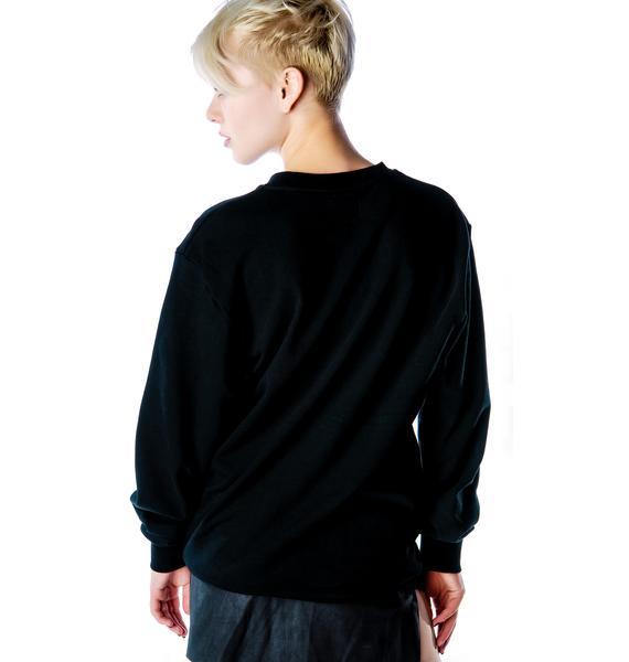 Skinny Face Supermodel Sweatshirt