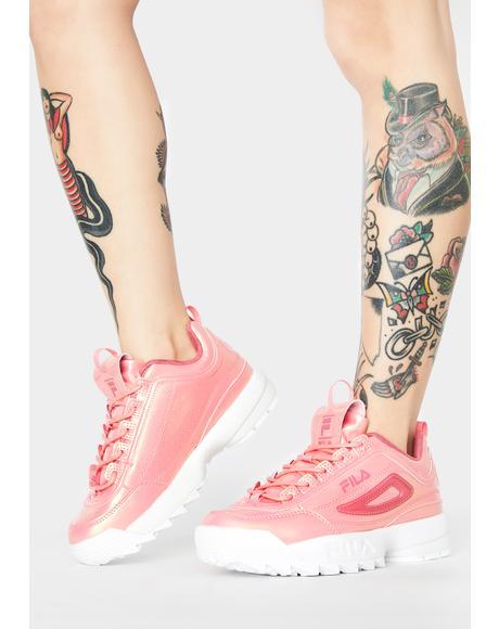 Pink Disruptor II Liquid Luster Sneakers