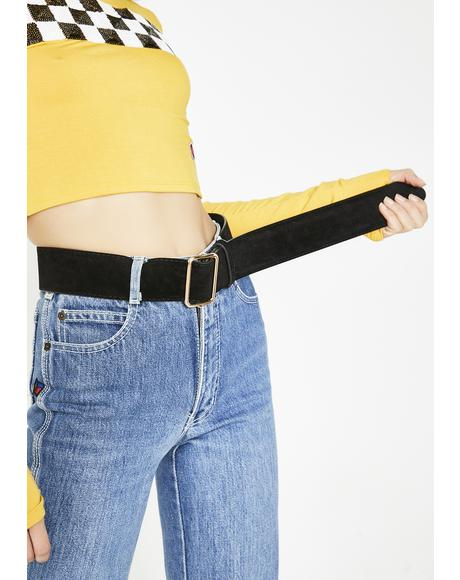 Lookin' Hot Velvet Belt