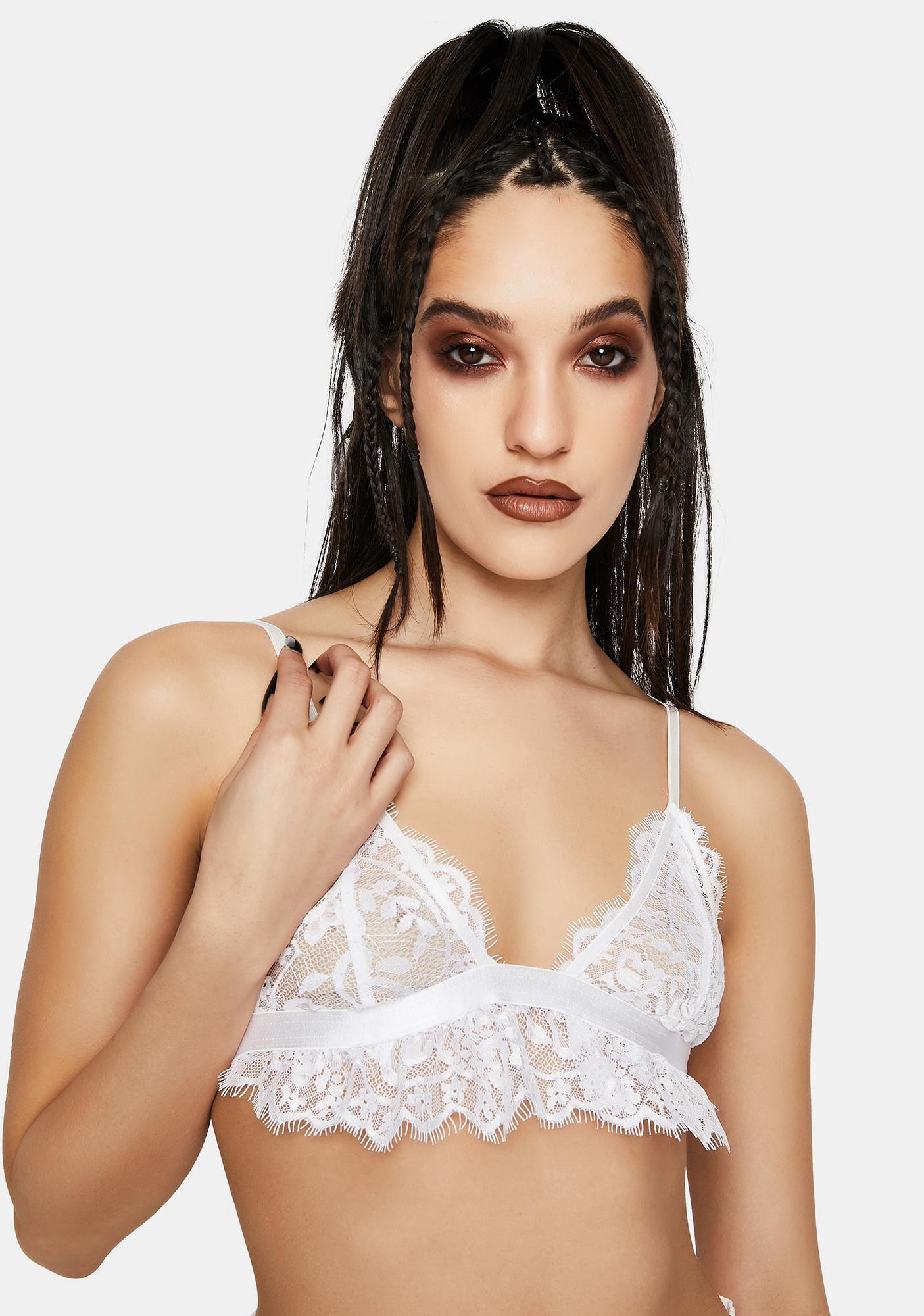 EastnWest White Dawn Lace Bralette