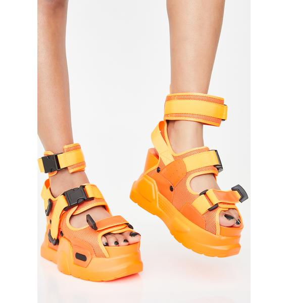 Anthony Wang Juicy Daily Hustle Platform Sandals