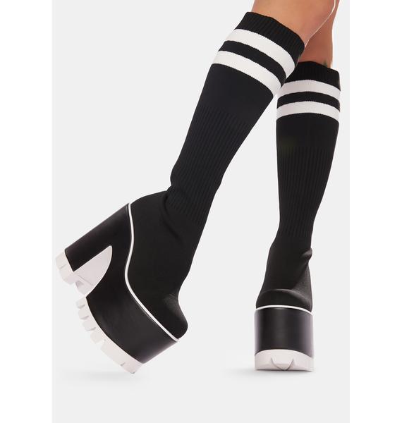 Current Mood Campus Cutie Sock Platform Boots