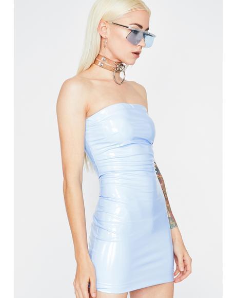 Icy Haute Vinyl Dress